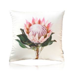 Modern Retro Flowers Satin Printing Pillow Cover