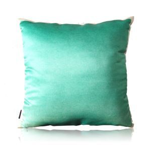 Modern Green Watercolor Texture Satin Pillow Cover