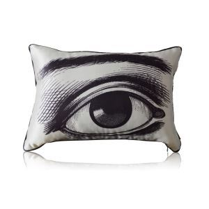 European Classical Hand-painted Eyes Stain Printing Waist Pillow Cover