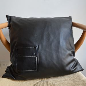 Modern Industrial Style Faux Sheepskin Soft Black Pillow Cover