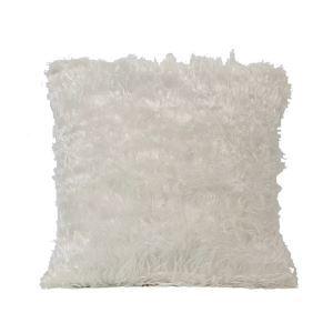 European Simple Faux Fur Fuzzy White Pillow Cover