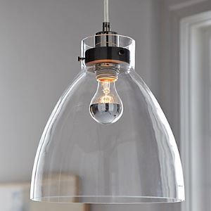 60W E27 Minimalist Glass Pendent Light
