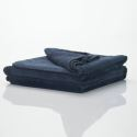 Modern Super Soft Small Waffle Large Dark Blue Blanket Air Conditioning Blanket Autumn And Winter Blankets Sofa Blanket Sheets