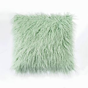 Nordic Modern Plush Faux Beach Wool Fur Solid Color Sofa Pillow Cover Office Large Cushions Cover 5 Colors 50*50cm