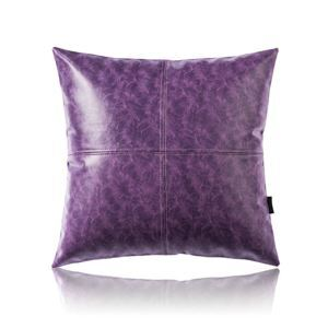 Modern Simple Purple Crazy Horse Leather Cushion PU Faux Leather Sofa Pillow Cover Car Office Lumbar Pillow Cover