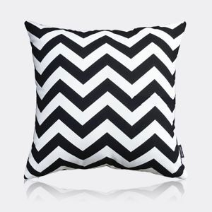 Nordic Modern Super Soft Velvet Wave Black And White Pattern Pillow Cover Sofa Cushions Cover