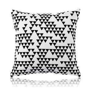 Nordic Modern Super Soft Velvet Geometric Black And White Pattern Pillow Cover Sofa Cushions Cover