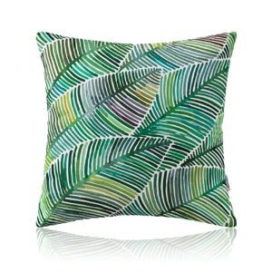 American Pastoral Simple Cotton Linen Plants Watercolor Printing Sofa Pillow Cover Monstera Pattern Cushions Cover