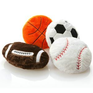 Modern Simple Plush Soccer Basketball Baseball Rugby Doll Pillow For Autumn And Winter