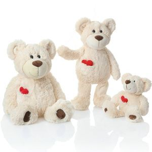 Plush Bear Doll Toys Bear With Love Heart Doll Medium