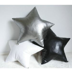 Pure Handmade Leather Love Heart Black And White Sofa Car Cushions Pillow
