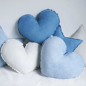 Pure Handmade Suede Super Cute Love Heart Pillow Car Ornaments Creative Gift Sofa Cushions