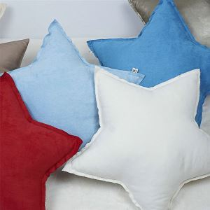 Pure Handmade Suede Super Cute Star Pillow Car Ornaments Creative Gift Sofa Cushions