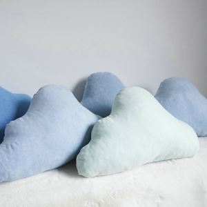 Handmade Custom Suede Cloud Pillow Creative Car Sofa Cushions Waist Pillow Small