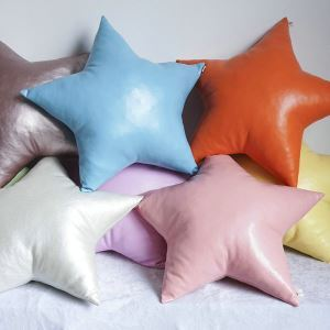 Candy Color Leather Star Pillow Star-shaped Cushions Hand-made Sofa Car Cushions