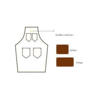 Aprons LOGO Leather Card Customize