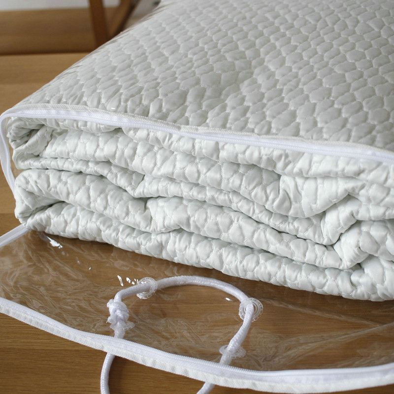 Modern Simple Matte Satin Quilted Quilt Solid Color Summer