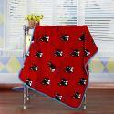 Modern Flannel Cartoon Bulldog Pattern Baby Blanket Children Bath Towel Summer Blanket 3 Colors