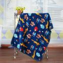 Modern Flannel Cartoon Fox Pattern Baby Blanket Children Bath Towel Summer Blanket