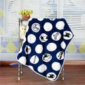 Modern Flannel Cartoon Bulldog Pattern Baby Blanket Children Bath Towel Summer Blanket 3 Colors