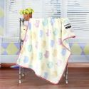 Modern Flannel Cartoon Cat Pattern Baby Blanket Children Bath Towel Summer Blanket 2 Colors