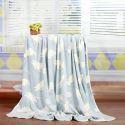 Modern Flannel Cartoon Cat Pattern Baby Blanket Children Bath Towel Summer Blanket 2 Colors