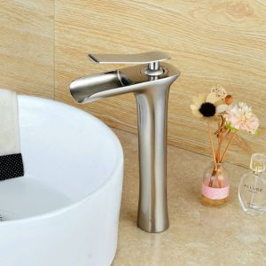 Modern Simple Brushed Finish Basin Faucet