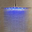 Light Up Shower Head Stainless Steel with Color Changing LED Light 12 inch