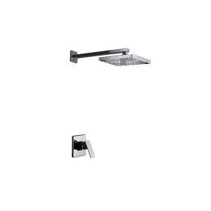 Minimalist Chrome Wall Mount Rain Shower Faucet(0758-HM-6109)