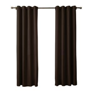 Modern Simple Coffee Curtain Solid Color Finished Curtains 7 Sizes Available