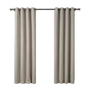 Modern Simple Khaki Curtain Solid Color Finished Curtains 7 Sizes Available