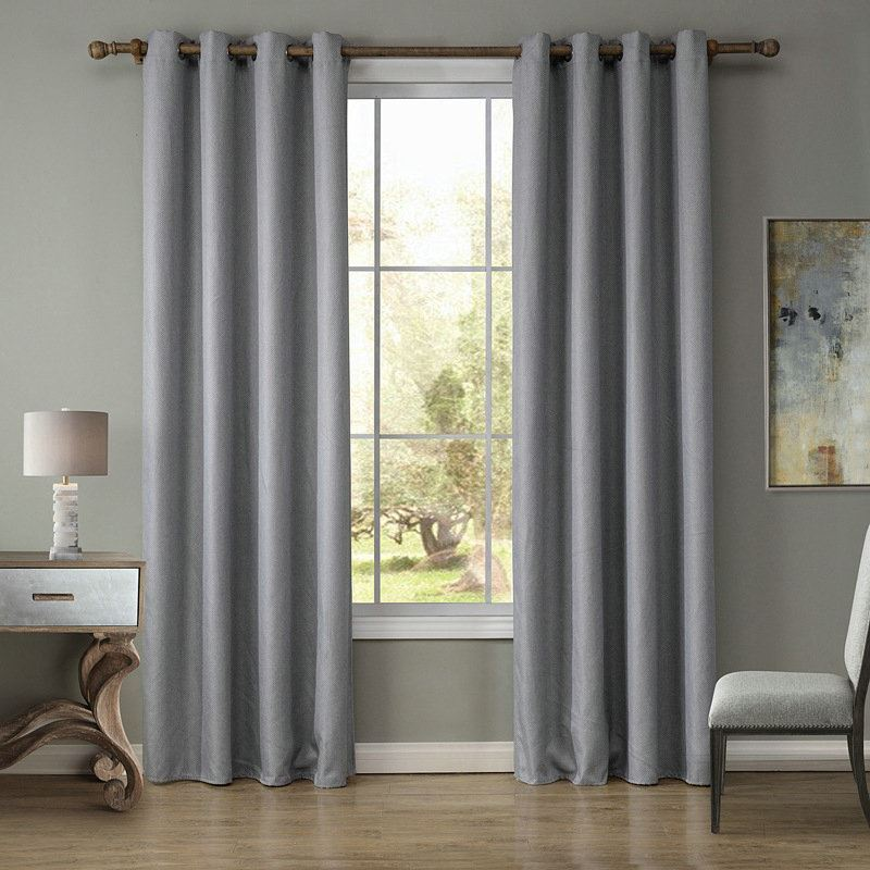 Modern Simple Gray Blackout Curtains Finished Curtains 7