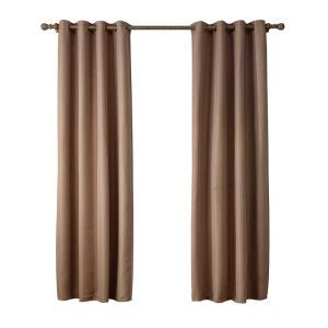 Modern Simple Light Brown Blackout Curtains Finished Curtains 7 Sizes Available