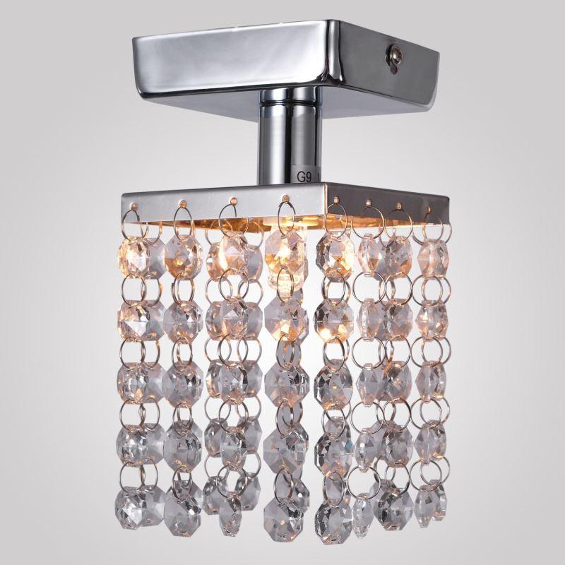For Sale Mini Semi Flush Mount Ceiling Light In Crystal