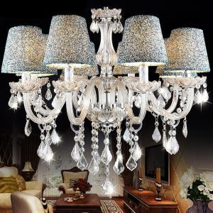 K9 Transparent Crystal Chandelier Luxurious Chandelier Lampshade Included
