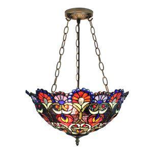 Symmetrical Pattern Pendant Light European Tiffany Chandelier Bedroom Living Room Dining Room Kitchen Light
