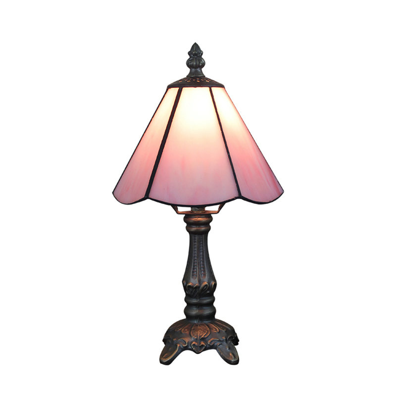 Living Room Lamp Shades: 6inch European Pastoral Retro Style Table Lamp Pink Lamp