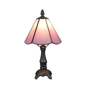 6inch European Pastoral Retro Style Table Lamp Pink Lamp Shade Bedroom Living Room Dining Room Lights