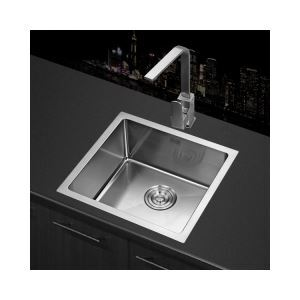 Modern Kitchen Sink Single Bowl Hand-made Brushed # 304 Stainless Steel  (Faucet Not Included)  HM4540