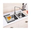 Drop-In Double Stainless Steel Sink for kitchen (Faucet Not Included) AOM8143M