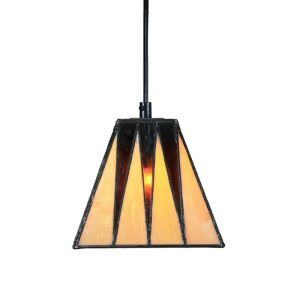 6inch European Pastoral Retro Style Pendant Light Trapezoidal Shade Bedroom Living Room Dining Room Kitchen Lights