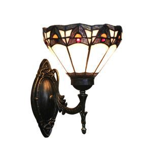 8inch European Pastoral Retro Style Sconce Colorful Pattern Shade Bedroom Living Room Dining Room Kitchen Lights