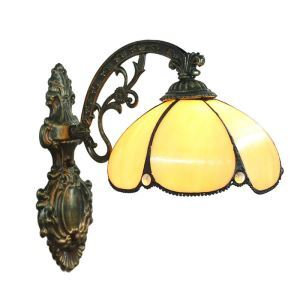 8inch European Pastoral Retro Style Sconce Golden Shade Bedroom Living Room Dining Room Kitchen Lights
