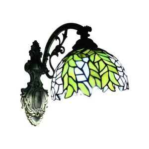 8inch European Pastoral Retro Style Sconce Colorful Leaves Pattern Shade Bedroom Living Room Dining Room Kitchen Lights