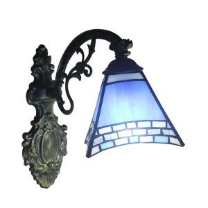 8inch European Pastoral Retro Style Sconce Blue Shade Bedroom Living Room Dining Room Kitchen Lights