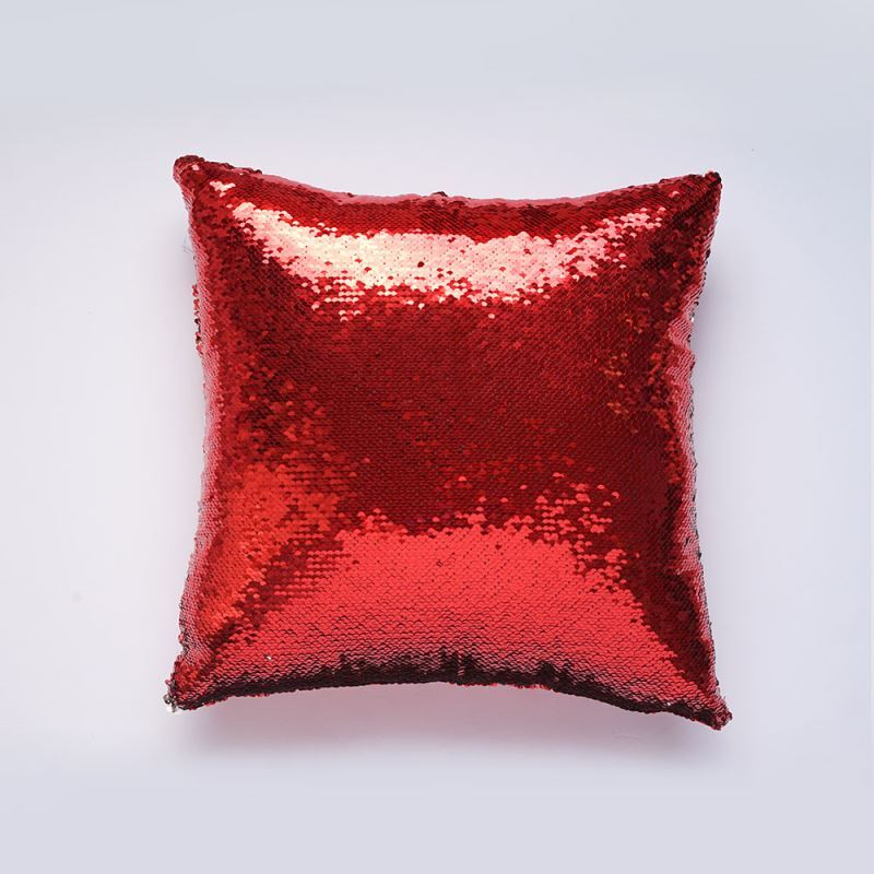 In Stock Mermaid Pillow Cover Red Silver Change Color