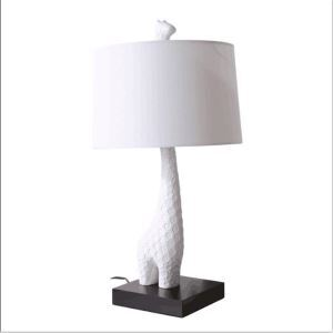 Giraffe Table Lamp by Designer Lighting in White Living Room Bedroom Lamp