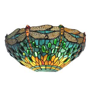 12inch European Pastoral Retro Style Sconce Dragonfly Pattern Shade Bedroom Living Room Dining Room Kitchen Lights