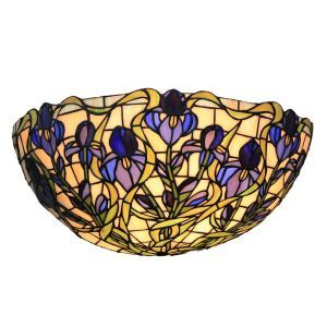 12inch European Pastoral Retro Style Sconce Blue Flower Pattern Shade Bedroom Living Room Dining Room Kitchen Lights