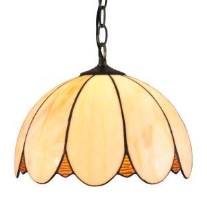 12inch European Pastoral Retro Style Pendant Light Petals Shape Glass Shade Bedroom Living Room Dining Room Kitchen Lights